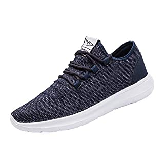 KEEZMZ Men's Running Shoes Fashion Breathable Sneakers Mesh Soft Sole Casual Athletic Lightweight Blue-46