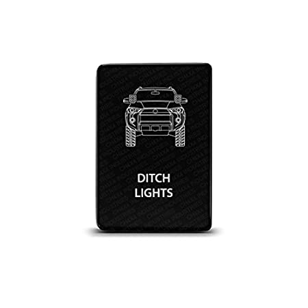 CH4X4 Small Push Switch for Toyota 4Runner Ditch Lights Symbol Blue LED