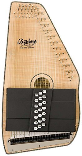 Oscar Schmidt OS110-21FNE 21 Chord Flame Maple Autoharp with Fine Tuning System Bundle - Includes Polishing Cloth - Natural