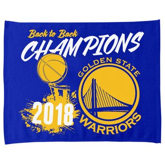 The Northwest Company Golden State Warriors Back to Back Champions RALLY TOWELS 15'' X 18'' by The Northwest Company (Image #1)