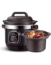 YHLZ Slow Cooker, Slow Cooker 4L, Removable Ceramic Bowl, 3 Temperature Settings Automatic Thermal Insulation Function, 280W