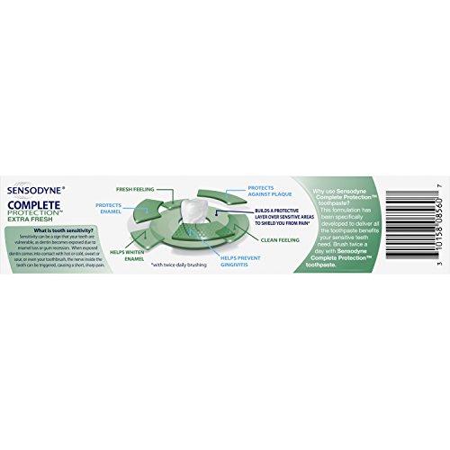 Sensodyne Complete Protection Sensitive Toothpaste For Gingivitis, Sensitive Teeth Treatment, Extra Fresh – 3.4 Ounces