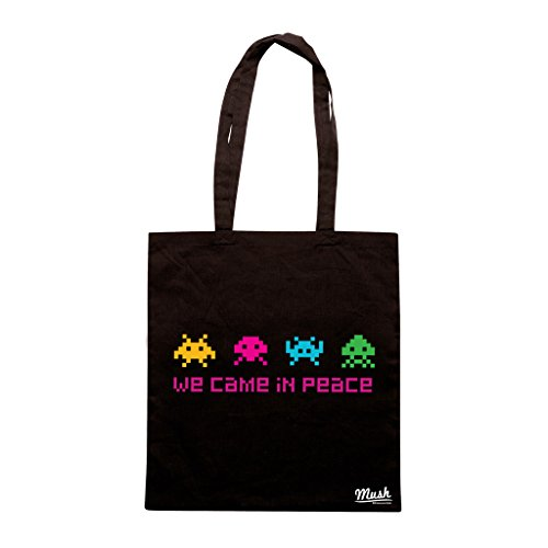 Borsa SPACE INVADERS - Nera - GAMES by Mush Dress Your Style