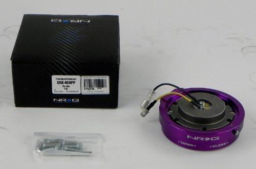 Purple Part # SRK-400PP NRG Short Steering Wheel Quick Release Kit