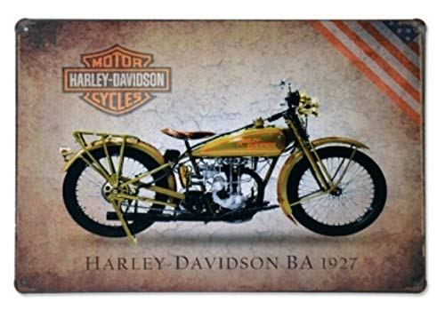 heigudan Metal Motor Harley-Davidson Cycles Vintage Sign Tin Painting Metal Framed Wall Art Home Decor Shop Pub Wall Garage Shabby Plaque ()