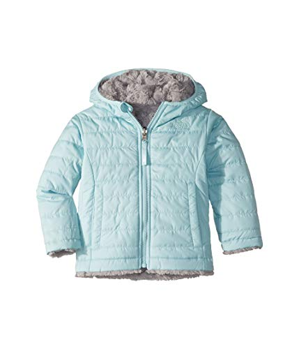 The North Face Kids Baby Girl's Reversible Mossbud Swirl Jacket (Toddler) Windmill Blue 3T