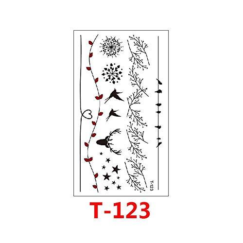 Etiqueta engomada del tatuaje temporal impermeable geométrica flor ...