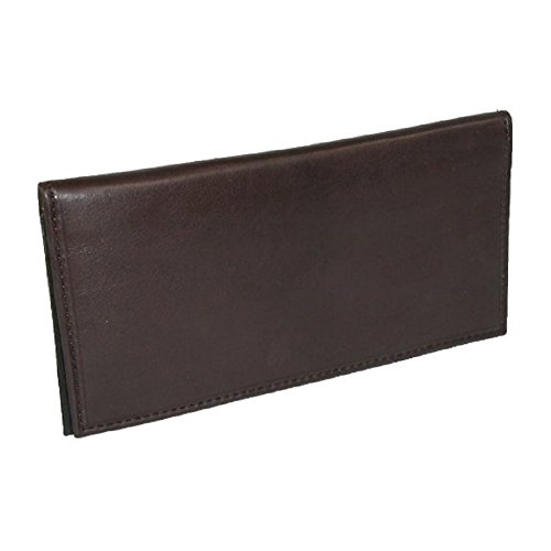 Basic BROWN Leather Checkbook Cover