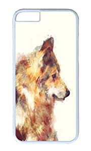 Apple Iphone 6 Case,WENJORS Adorable Wolf True Hard Case Protective Shell Cell Phone Cover For Apple Iphone 6 (4.7 Inch) - PC White