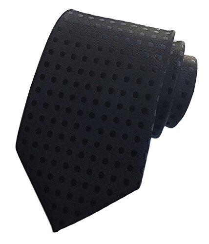 Secdtie Men Blue Polka Dot Silk Cravat Woven Jacquard Ties Casual Neckwear Y021