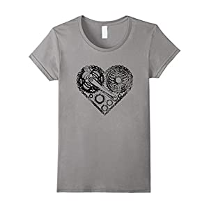 Womens LOVE BIKING T SHIRT Bike Cyclist T-Shirt Small Slate