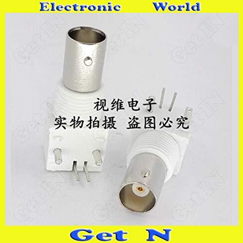 - Gimax 20pcs-200pcs White Bent 90Pin Weld-On-Panel BNC/Q9 Receptacle Socket PCB Socket for CCTV System Monitor - (Color: 3Lots 60pcs)