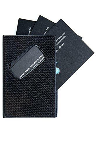 Genuine Carbon Fiber Business Name Credit Card Holder CL Carbonlife- 3K Glossy Case Black