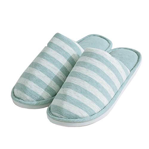 flach 2 ultra geschlossene mit Zehen rutschfester leicht Komfortable waschbar plastik xl Hausschuhe Baumwoll KJ23P Lanker Grün braun Sohle Innenschuhe Paar IO0BwqI