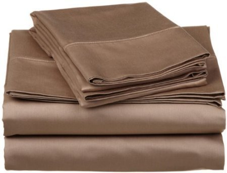 600 Tc Solid Sheet Set (Royal Tradition Solid Taupe 600 Thread Count Split King Sheet Set 100% Cotton 5pc Bed Sheet set(Deep Pocket) 600 TC Dual King)