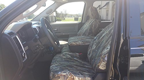 (Durafit Seat Covers,,Waterproof Seat Covers Made to fit DRT Camo Endura for 2011-2012 Dodge Ram 1500-3500 Front and Rear Seat Cover Set. Front 40/20/40 with Opening Console. Rear Solid Bench Seat.)