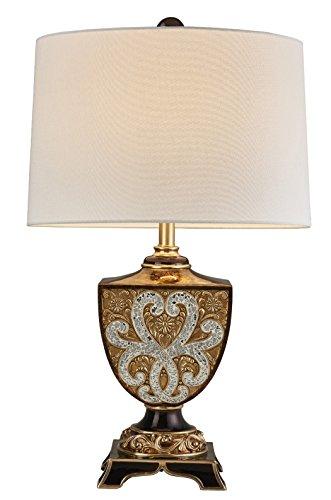 """- OK Lighting OK-4295T 28.75""""H Chandra Table Lamp"""