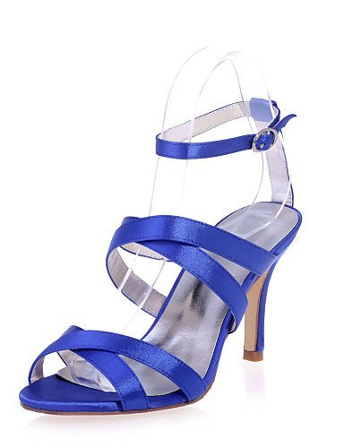 Heel Shoes amp; Women's Stiletto Wedding ShangYi Blue Open Toe Satin More available Shoes Sandals Party Evening Colors wI5f1qUx