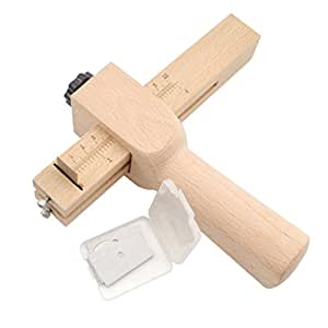 Farmunion Wood Strip And Strap Cutter Tool Leather DIY Hand Cutting Tool With Blades
