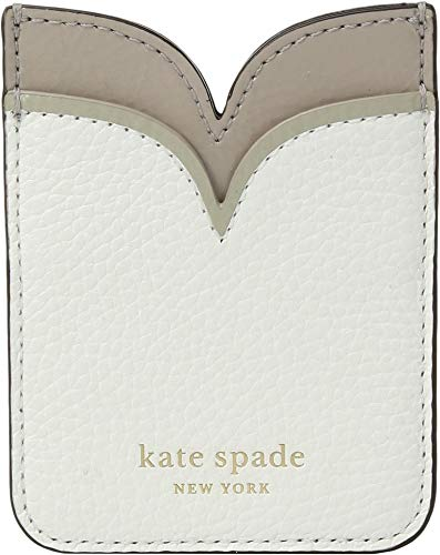 Kate Spade New York Sam Double Sticker Pocket, Optic White, One Size