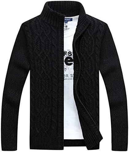 セーター カーディガン メンズ ジャケット ニットセーター 長袖ジップ スタンドカラー 無地 大きいサイズ 秋 冬