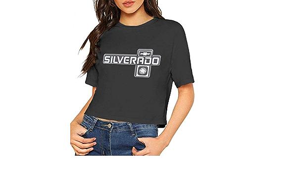 Amazon Com Chevrolet Silverado Logo Camiseta De Manga Corta Para Mujer Clothing