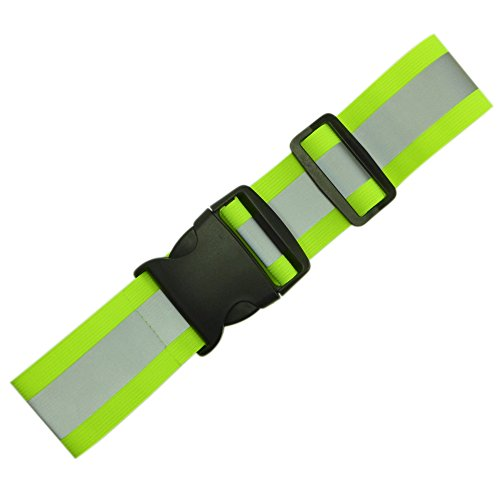 Endura Max Reflectives Reflective Elastic Belt or Sash, Military Heritage Style Glow Belt, Running Walking Motorcycling Friendly, Adjustable (Lime Green) (Belt Glow)