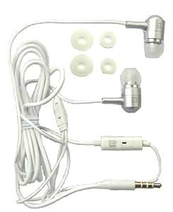 Langston Plata Metal Earbuds Sonido De Alta Definición En La Oreja Auriculares Manos Libres Estéreo Con Micrófono Adecuada Para Huawei Ascend G520