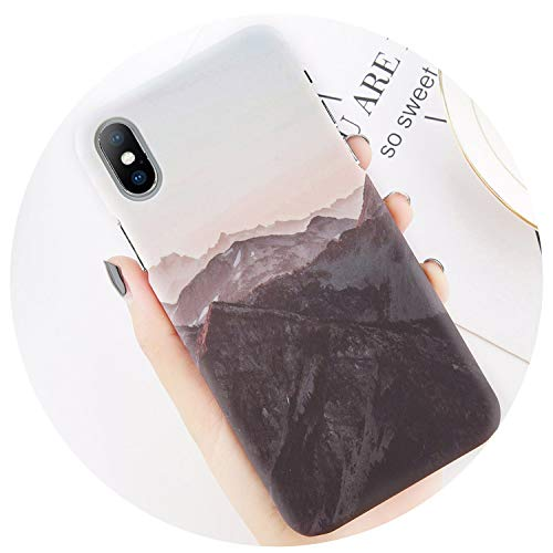 Gooding life Funda Carcasa para iPhone 8 7 Plus Mountain Peak Forest Back Cover para iPhone X XS XR XS MAX 7 6 6S Plus Hard...