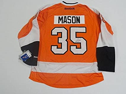 Steve Mason Signed Jersey - Reebok Premier  35 - Autographed NHL ... 1a872e8f5