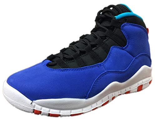 Nike Air Jordan 10 Retro Big Kid's Shoe Racer Blue/Team Orange/Black 310806-408