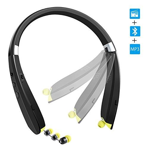 NEXGADGET Bluetooth Headphones Sweatproof Retractable