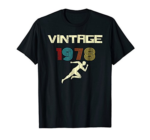 Runner's Vintage 1978 40th Birthday Shirt