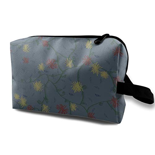 Cosmetic bag for purse,Strawflower Feedsack Camelot_1959,Oxford cloth Colourful Bag Mini Travel