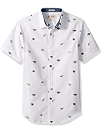 Men's Short Sleeve Safari Print Shirt