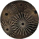 Surya Forum Black-Brown 6' Contemporary Area Rug