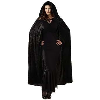 Velvet Hooded Cape Costume Accessory - Standard - Chest Size 33-45