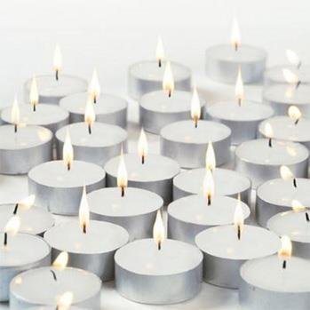 Pure Source India Pack Of 100 Pcs Tea Light Candle Smock Less, Burn Time About 3 Hrs, Made In India .11 Gram Candles