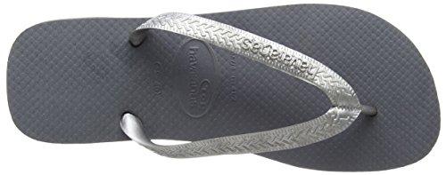 Havaianas Top Logo Metallic Silver Chanclas, mujer Gris (Steel Grey 5178)