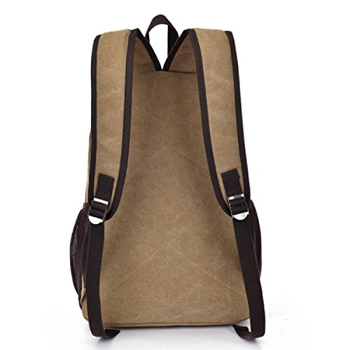 Business Laidaye Multi Shoulder Leisure Backpack Canvas Beige purpose Travel qfwvwHEa