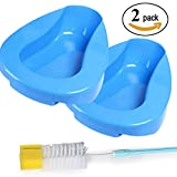 Bedpan for Bedbound Patient Healthcare,Smooth Countoured Bariatric Stable PP Material with a Brush (2)