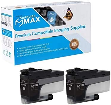LC-3033XXLBKBP2 2//PK-3000 Page Yield SuppliesMAX Compatible Replacement for Brother DCP-J1100//MFC-J805//J815//J995//J1300DW Black Super High Yield Inkjet