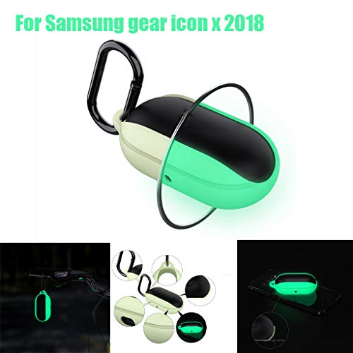 Sodoop [Bean] Silicone Case for Gear Icon X 2018, Soft Silicone Waterproof Night Luminous Protective Cover Skin Case Scratch/Shock Resistant Silicone case for Samsung Gear Icon X 2018