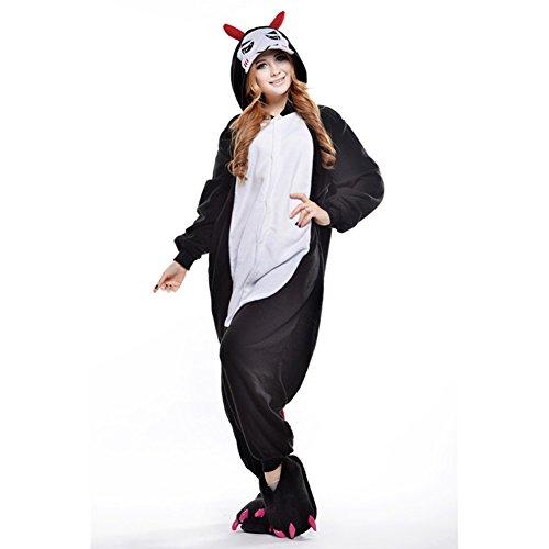 Pigiama Costume Tuta Nero Unisex per Amurleopard da L notte Tutina Abbigliamento adulto Diavolo Costume Animale Abbigliamento Pinguino BRXRqw