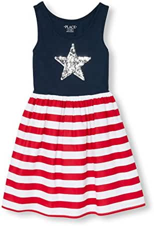 The Children's Place Big Girls' Americana Star Dress