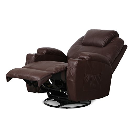 Esright Massage Recliner Chair Heated Pu Leather Ergonomic