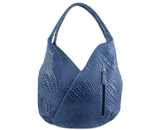 CHLOLY - Bolso de asas para mujer Bleu Jeans