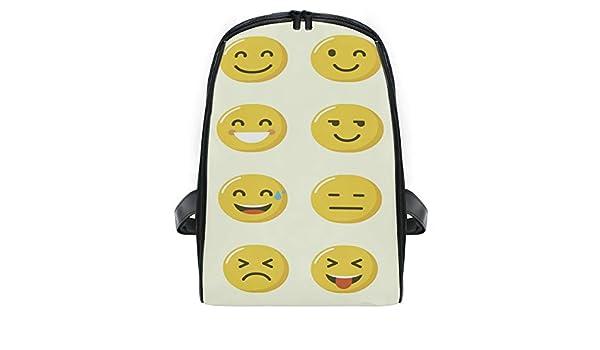 Montoj - Mochila Infantil con emoticonos Amarillos, Ideal para ...