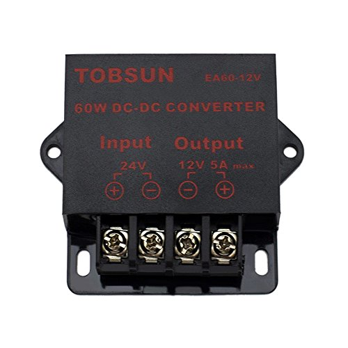 EPBOWPT DC 24V to 12V 5A 60W Converter Step Down Regulator for Car Low Voltage Transformer