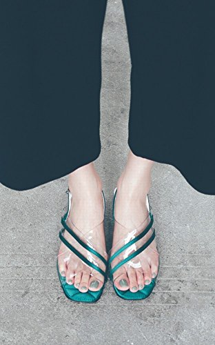 Planos 37 Planas Hadas Pvc Palabra Sandalias Zapatos Romana Dhg Botón Moda Transparentes verde vq7Z8S5wx